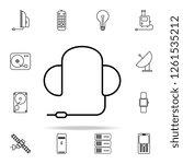 gaming headphones outline icon. ...   Shutterstock . vector #1261535212