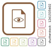 file preview simple icons in... | Shutterstock .eps vector #1261535602
