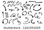 hand drawn arrows  vector set   ...   Shutterstock .eps vector #1261541035