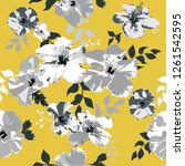 seamless floral pattern.... | Shutterstock .eps vector #1261542595