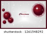 merry christmas and happy new... | Shutterstock .eps vector #1261548292