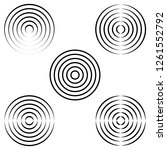 set the circles of waves on the ... | Shutterstock .eps vector #1261552792