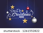 merry christmas and happy new... | Shutterstock .eps vector #1261552822