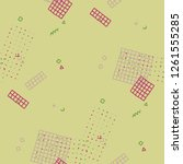 retro memphis pattern. seamless ... | Shutterstock .eps vector #1261555285