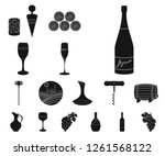 wine products black icons in... | Shutterstock .eps vector #1261568122