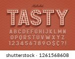 omical tasty 3d display font...   Shutterstock .eps vector #1261568608