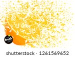 orange with a splash of fresh... | Shutterstock .eps vector #1261569652