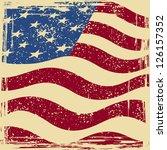 american grunge flag. raster... | Shutterstock . vector #126157352