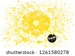 lemon with a splash of fresh... | Shutterstock .eps vector #1261580278