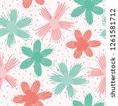 vector coral flowers... | Shutterstock .eps vector #1261581712