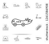children car line icon. toys... | Shutterstock . vector #1261586908