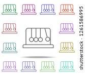 newton cradle icon. elements of ... | Shutterstock . vector #1261586995