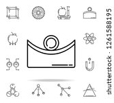 concave icon. physics icons... | Shutterstock . vector #1261588195