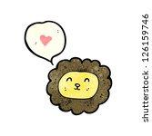 cartoon cute lion face | Shutterstock .eps vector #126159746