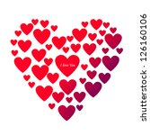 i love you heart  isolated... | Shutterstock .eps vector #126160106