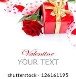 valentine. valentines hearts ... | Shutterstock . vector #126161195