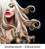 blond hair. beautiful sexy... | Shutterstock . vector #126161642