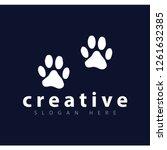 dog footprint logo vector...   Shutterstock .eps vector #1261632385