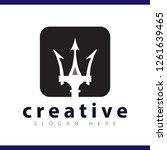trident spear logo vector... | Shutterstock .eps vector #1261639465