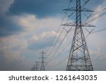 high voltage pole cable wire... | Shutterstock . vector #1261643035