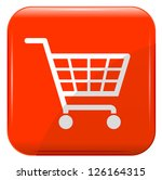 shopping basket sign on red...   Shutterstock .eps vector #126164315