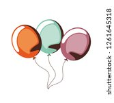balloons helium isolated icon | Shutterstock .eps vector #1261645318