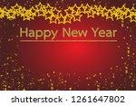 happy new year. with golden... | Shutterstock . vector #1261647802