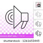 megaphone thin line icon.... | Shutterstock .eps vector #1261653445