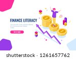 financial literacy isometric ... | Shutterstock .eps vector #1261657762