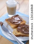 toasts with chocolate and...   Shutterstock . vector #126166868