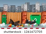litter in the urban town... | Shutterstock .eps vector #1261672705