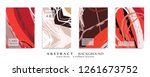 abstract universal grunge art... | Shutterstock .eps vector #1261673752