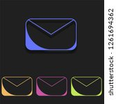 mail icon in multi color....