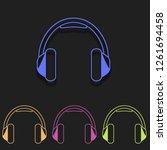 headphone icon in multi color....