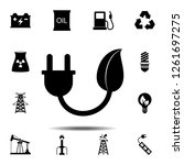 energy save icon. simple glyph...