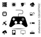 games icon. simple glyph vector ...
