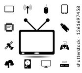 tv icon. simple glyph vector...