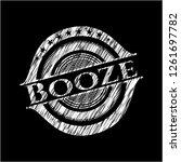 booze chalk emblem written on a ...   Shutterstock .eps vector #1261697782
