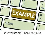 word writing text example.... | Shutterstock . vector #1261701685