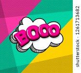 boo scare halloween comic text... | Shutterstock .eps vector #1261713682