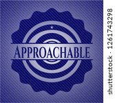 approachable badge with denim... | Shutterstock .eps vector #1261743298