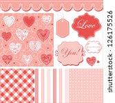 cute pattern  frames and cute... | Shutterstock .eps vector #126175526
