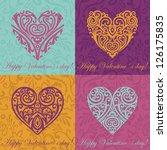 Vector Set Of Valentine Cards
