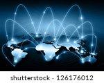 best internet concept of global ... | Shutterstock . vector #126176012