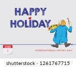 calendar events of december  ... | Shutterstock .eps vector #1261767715