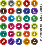 white solid icon set  soap...   Shutterstock .eps vector #1261768858
