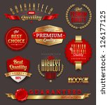 set of premium   quality golden ... | Shutterstock .eps vector #126177125