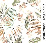 pastel white pattern with... | Shutterstock .eps vector #1261776715