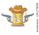 cowboy bobbin with needle... | Shutterstock .eps vector #1261778098