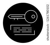 marketing keywording black... | Shutterstock .eps vector #1261780102